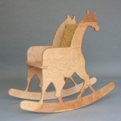 Giraffe Rocking Chair Hanging Cart Safari Childs With Print