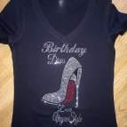 Diva Bling Birthday Shirt