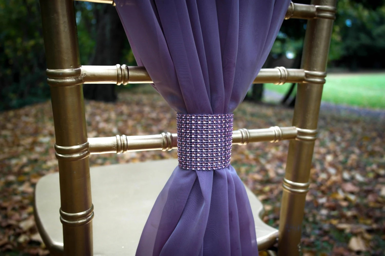 wedding chair covers lilac blue salon sash rose chiffon by delalinens