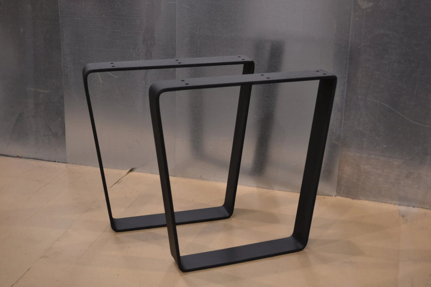 Tapered Trapezoid Style Metal TableBenchDesk Legs  Any