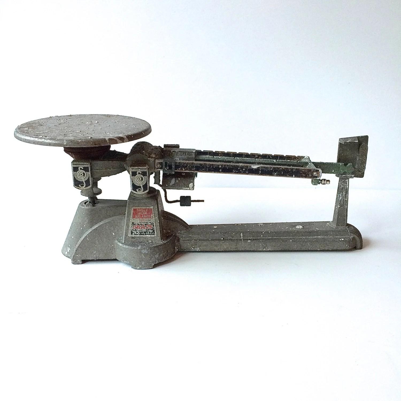 S Ohaus Metal Balance And Scale Triple Beam Balance Made