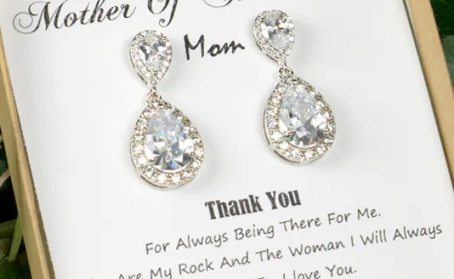 Wedding Earrings Mother Of The Bride Gift Personalized