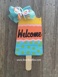 Items similar to Jumbo popsicle bomb pop door decoration