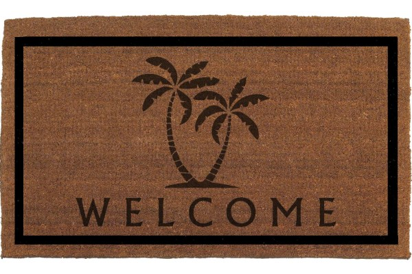 Palm Tree Welcome Outdoor Mat