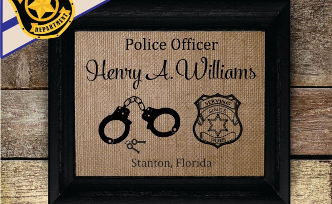 Personalized Police Officer Gifts Thin By Burlapcountrydesigns
