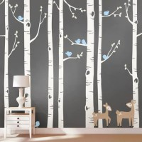 Birch Tree Wall Decal Birch Trees Birch Trees by SimpleShapes