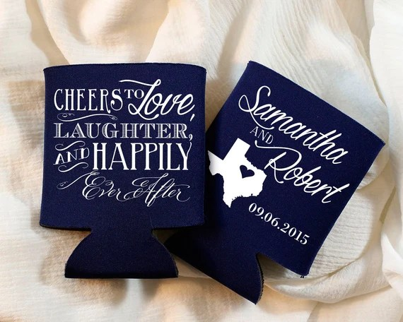 Download Cheers To Love Laughter Happily Ever After Wedding Favors
