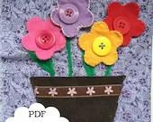 Button Flowers Quiet Book...
