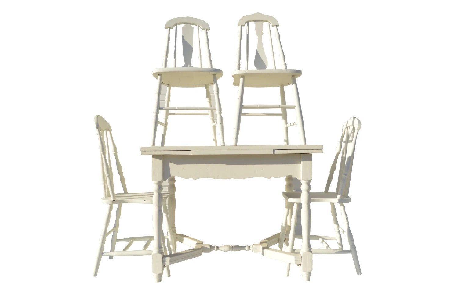 white farmhouse kitchen table and chairs cheap kids desk chair cottage shabby dining