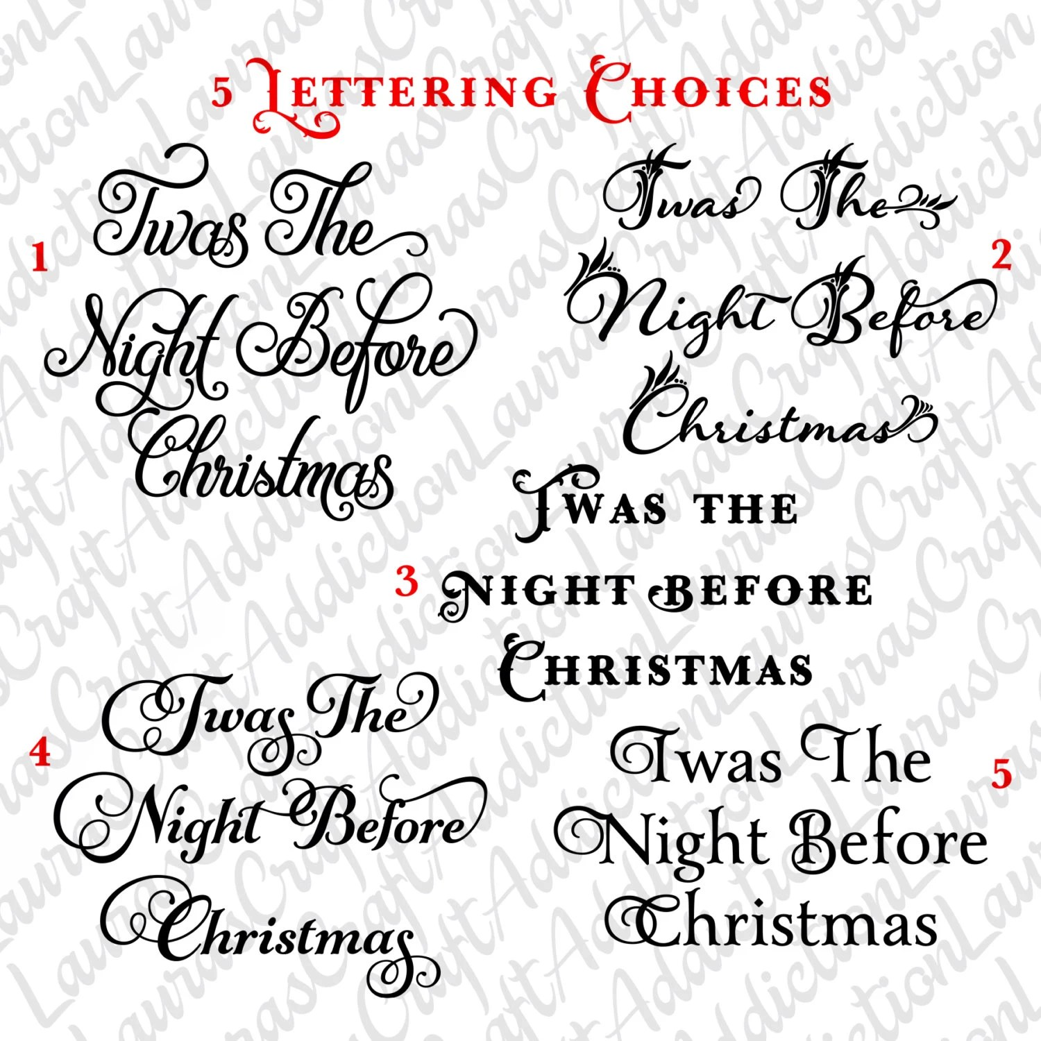 5 Twas The Night Before Christmas Svg Dxf Cut Files