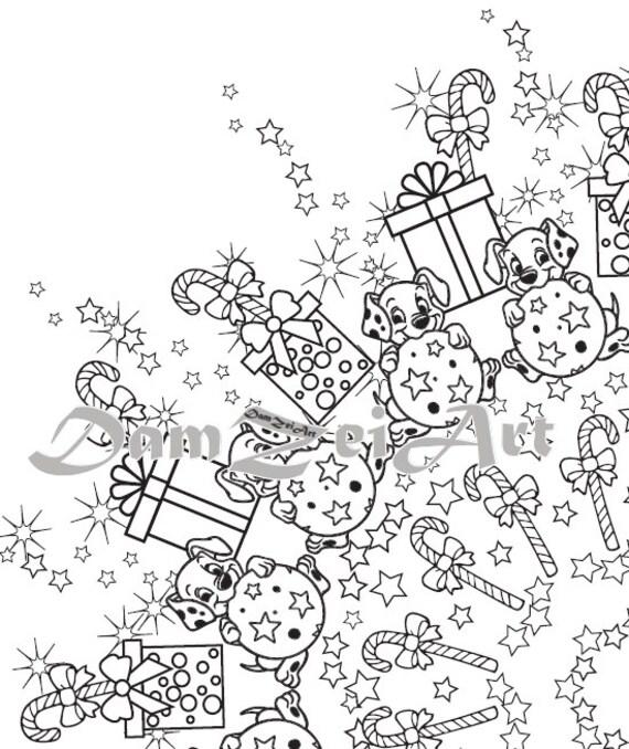 Items similar to Mandala NEW YEAR Digital Coloring Page