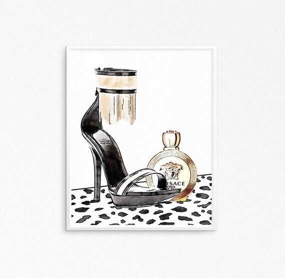 Versace poster. Sandals poster. Perfume artwork. Versace