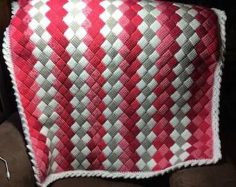 Entrelac crochet  Etsy