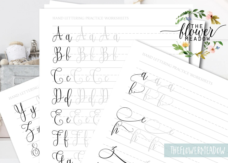 Calligraphy Worksheet Learn Calligraphy Beginners Hand
