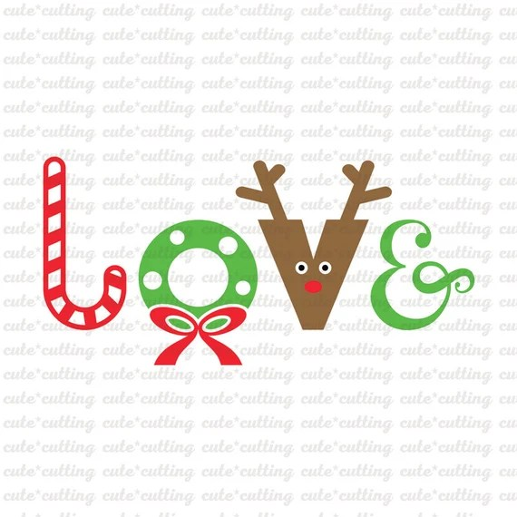 Download Christmas Love svg dxf jpeg cutting files for Silhouette