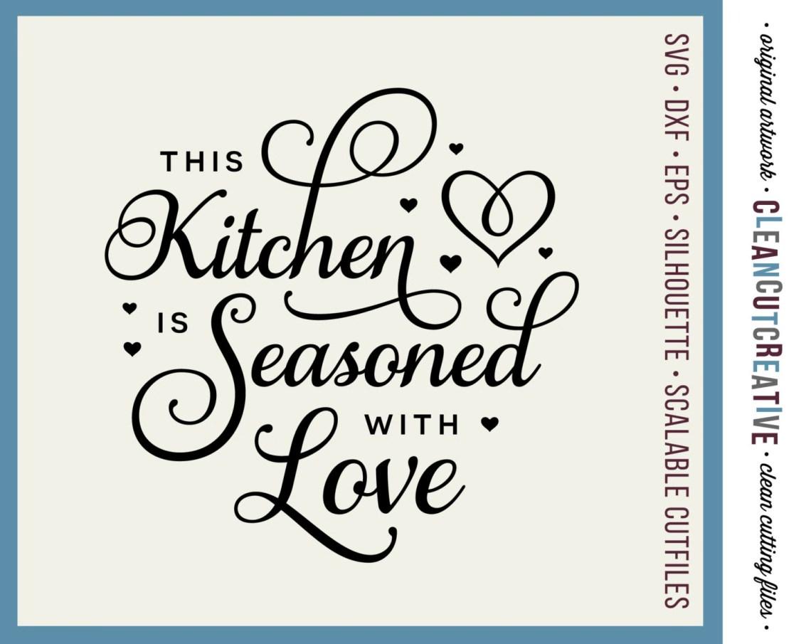Download SVG Kitchen Seasoned with Love - apron towel kitchen svg ...