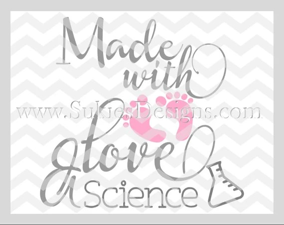 Download Made with Love and Science Girl SVG DXF PNG Files for Cricut