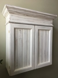 Distressed White Cabinet Bathroom Cabinet Kitchen Cabinet