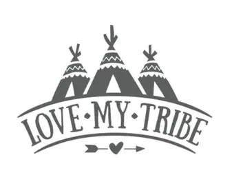 Download Love my tribe decal | Etsy