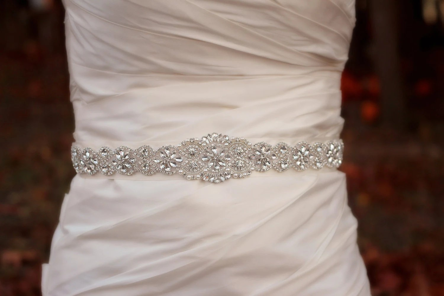 Beaded Wedding Sash Wedding Belt Rhinestone Bridal Belt