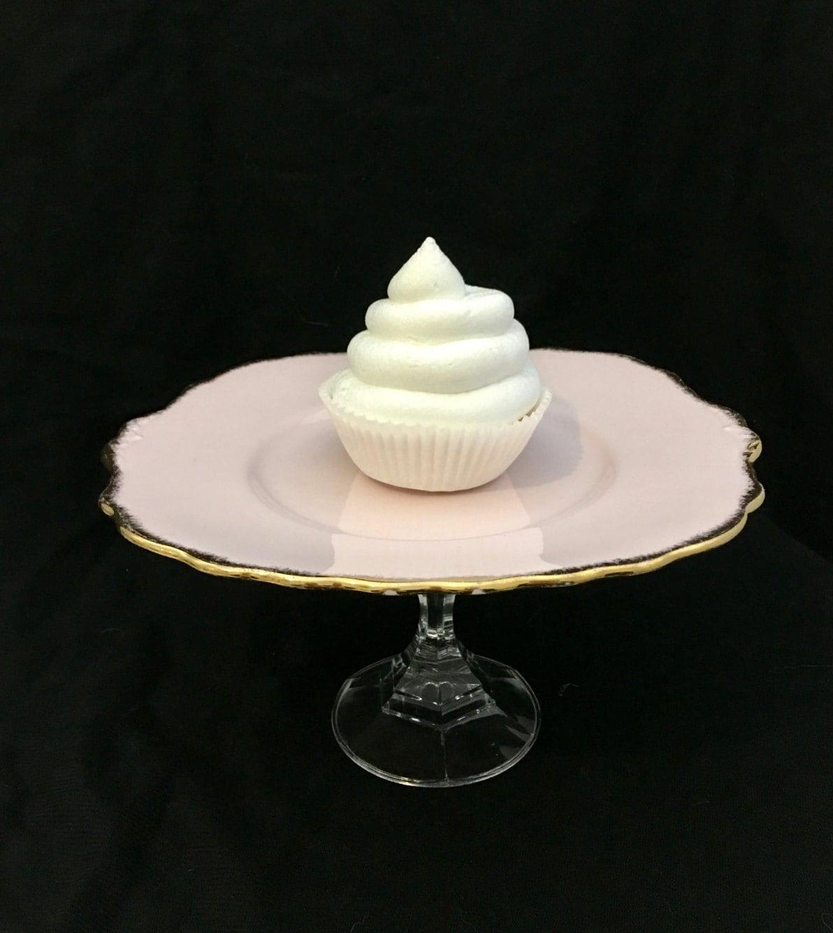 Wedding Cake Stand Glass Cake Stand Pink Cake Stand Cake