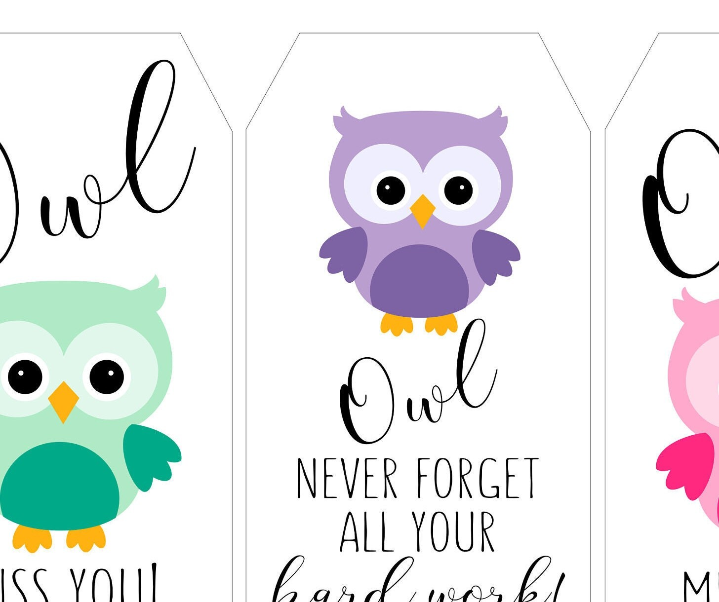 picture relating to Owl Miss You Printable identify Owl Pass up Yourself Card Printable - Studying Mars