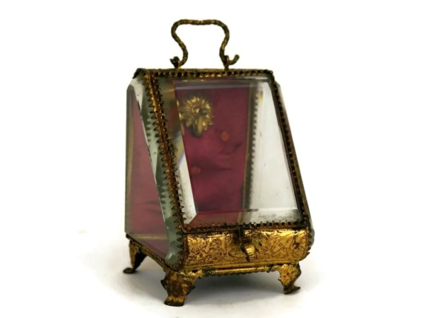 Antique Pocket Watch Display Case. French Jewelry Casket