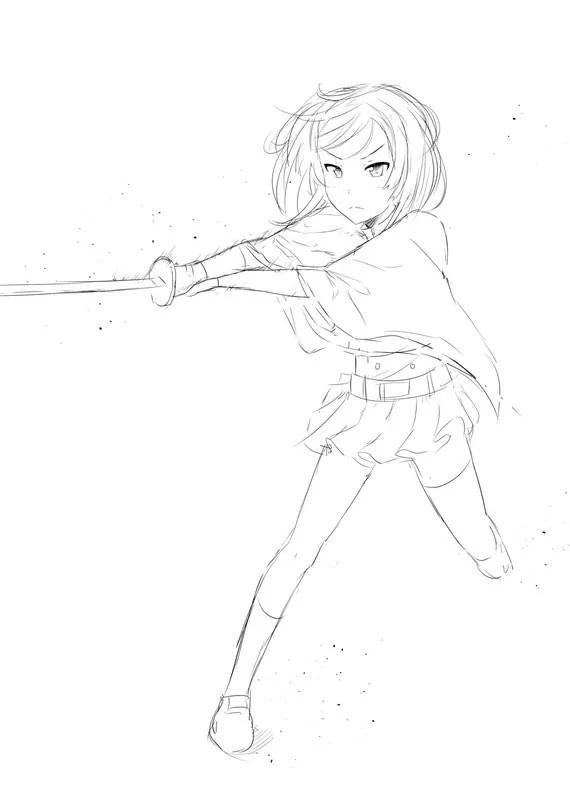 Rough Lineart/Sketch Anime Commissions Kawaii manga cute