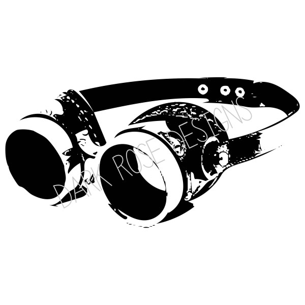 Instant Steampunk Goggles Clip Art Digital