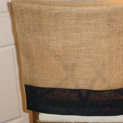 Burlap Chair Covers For Folding Chairs Nada Sportbacker Back Cover Two Tone Natural And Black Bar