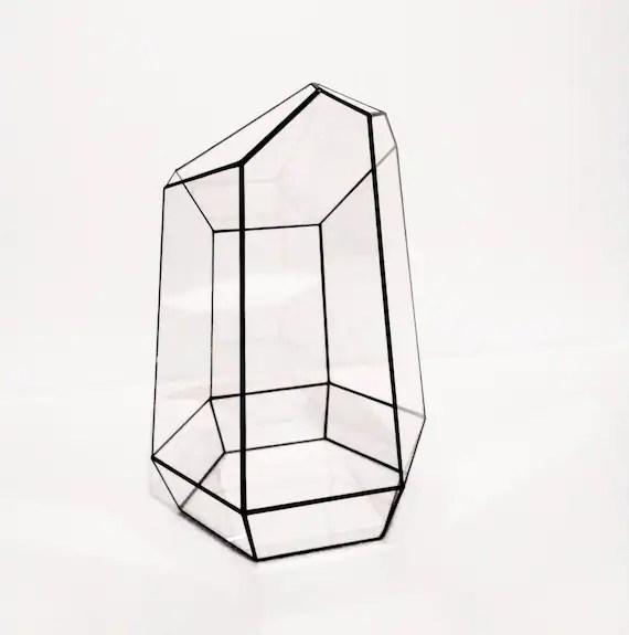 Geometric terrarium Granite from stained Tiffany glass 3