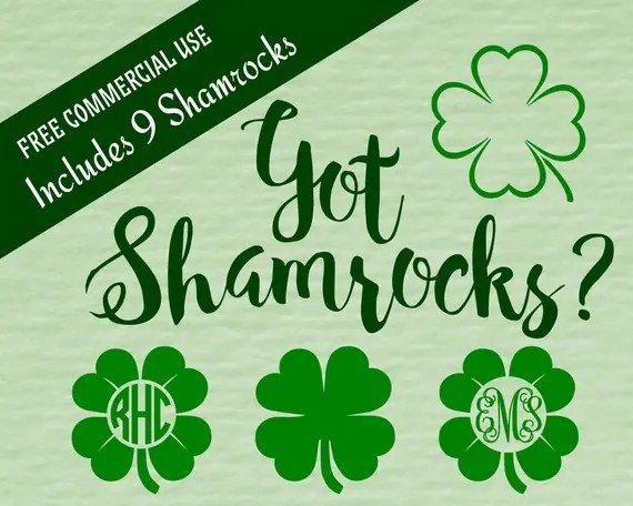 Download FREE St. Patrick's Day Shamrock Files | Cutting Files for ...