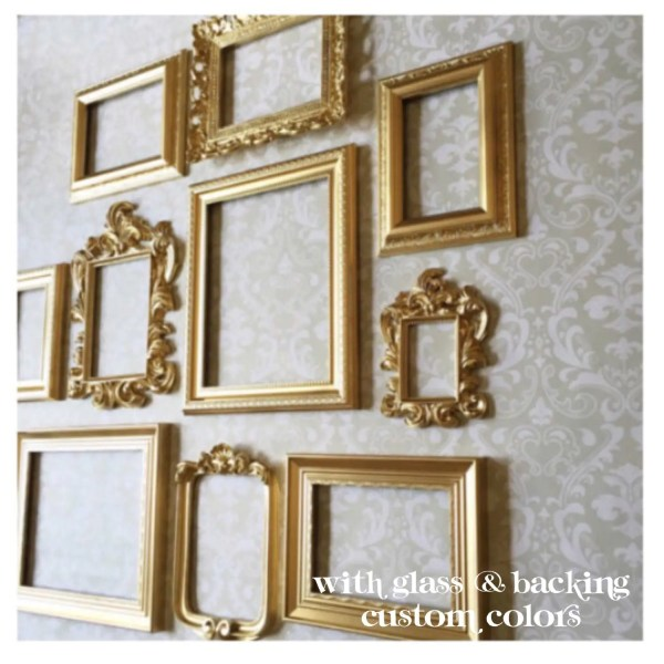 Gold Frame Set Wall Collection Of 10