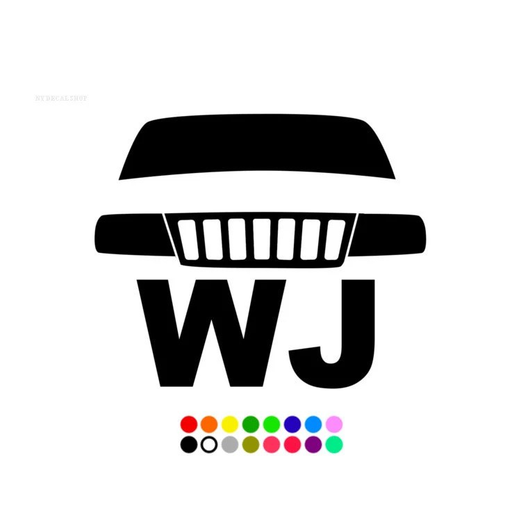 WJ Jeep Decal Pick your size & color Window Sticker by