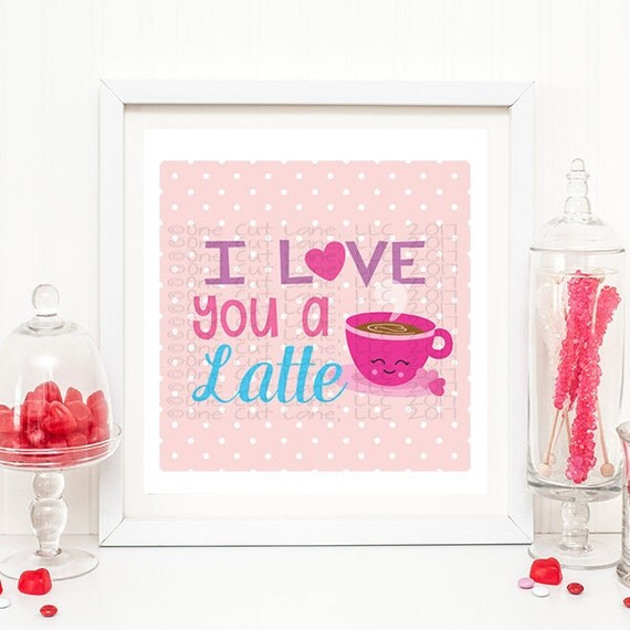 Download SVG, DXF, Pdf, Studio3 Cut file, CF93 I Love You a Latte ...