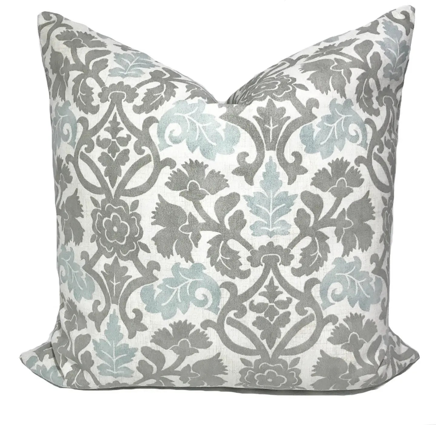 Gray pillow cover Gray throw pillows Cushion covers Blue