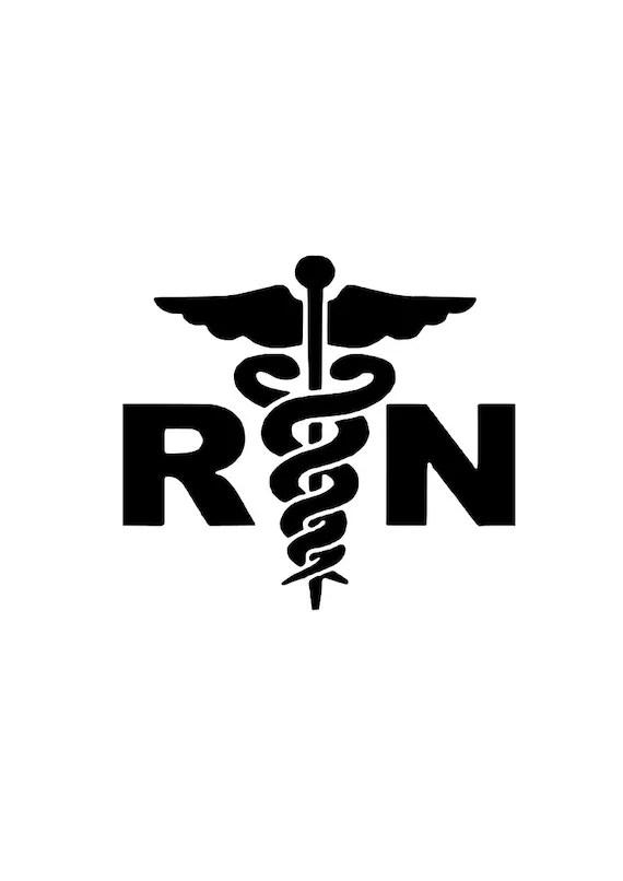 Registered Nurse RN svg outline laptop cup decal SVG Digital