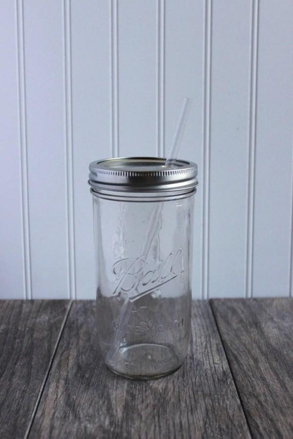 24 Oz. Mason Jar Tumbler And Bpa Free Reusable Straw Pint