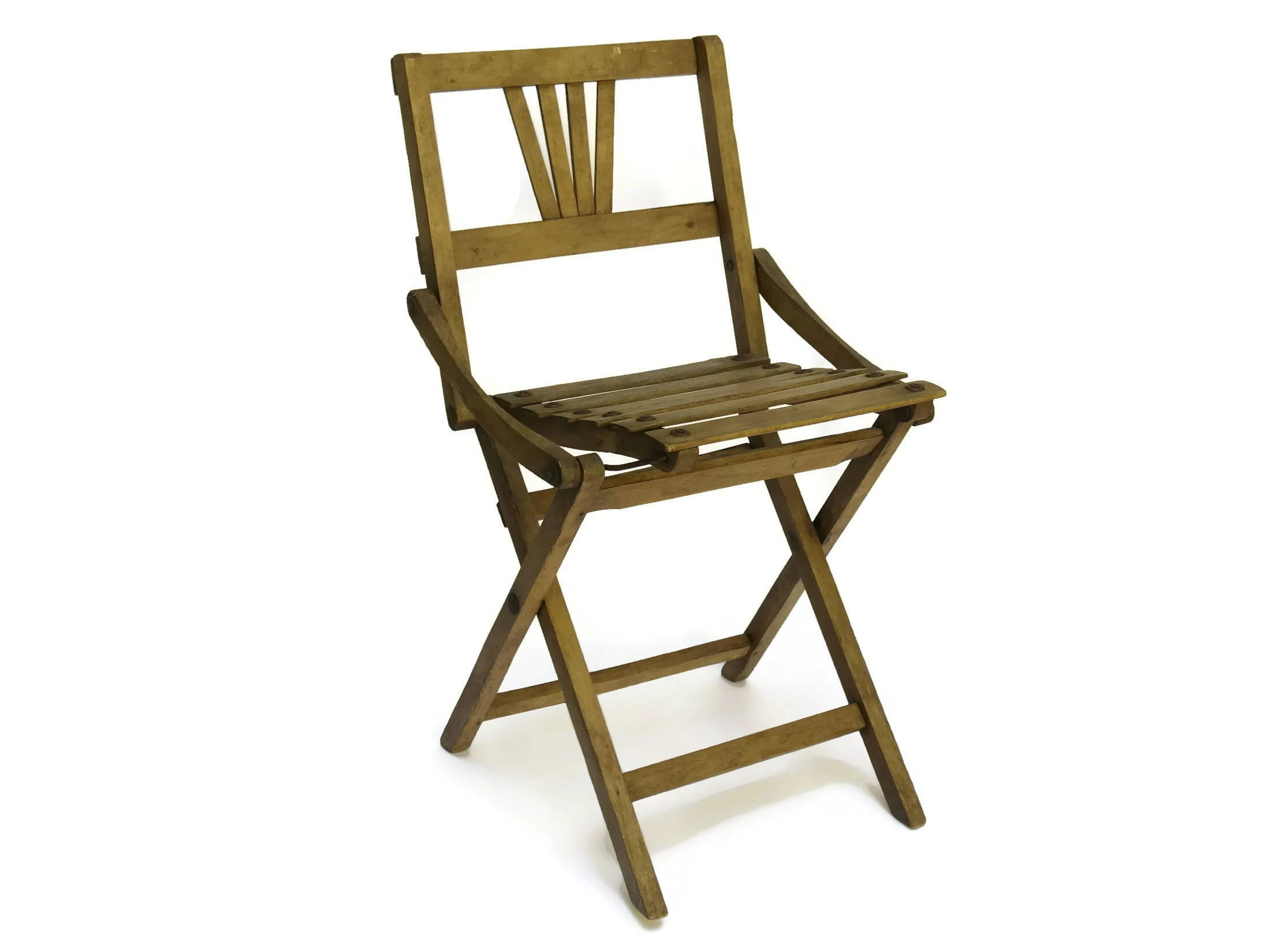 fishing ladder chair guidecraft princess table and chairs rustic french wooden folding stool small camping