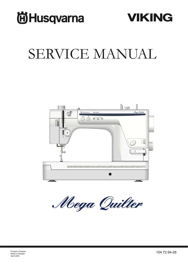 Husqvarna Viking Mega QUILTER Service / Repair manual & Parts