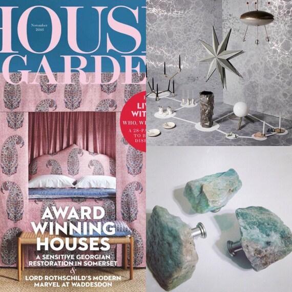 WIE In Haus Und Garten Magazin Zu SEHEN Amazonite Knopf