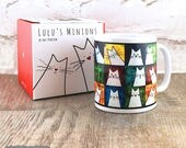 Quirky Cat Mugs: white ca...