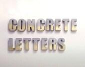 Custom Concrete Letters w...