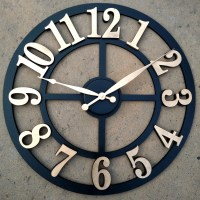 Large Wall Clock I Raised Numbers