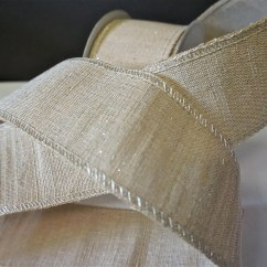 Burlap Chair Sashes Canada Plastic Rail Manufacturers Shimmery Jute Ribbon With Silver Metallic Thread 10 Yard