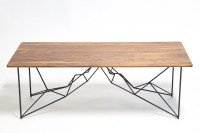 Coffee Table Geometric Mid century Modern Powder coated
