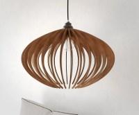 suspension bois lustre en bois lampe de plafond en bois