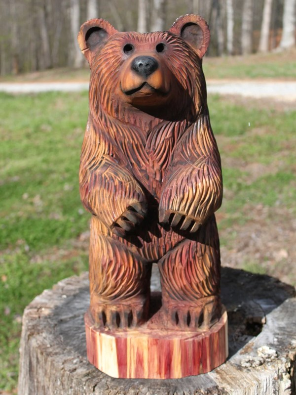 24-28 Bear Cub Chainsaw Wood Carving Dually
