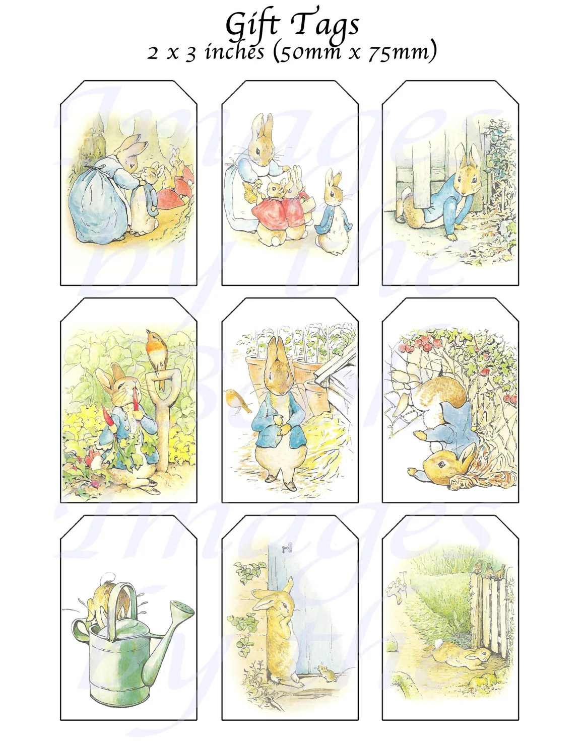 Beatrix Potter S Peter Rabbit Printables T Tags 2 X 3