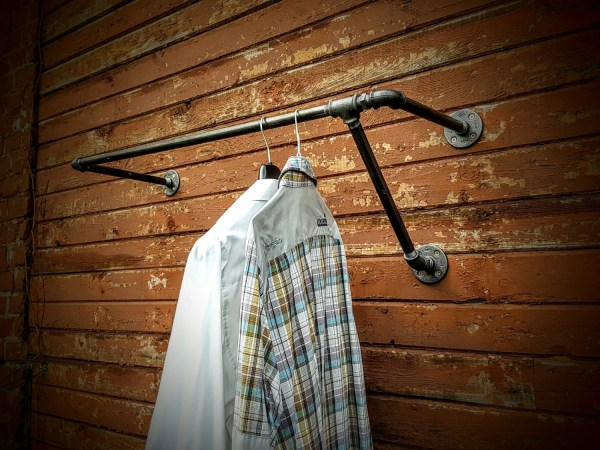 Asymmetric Wall Mounted Clothes Rack Garment